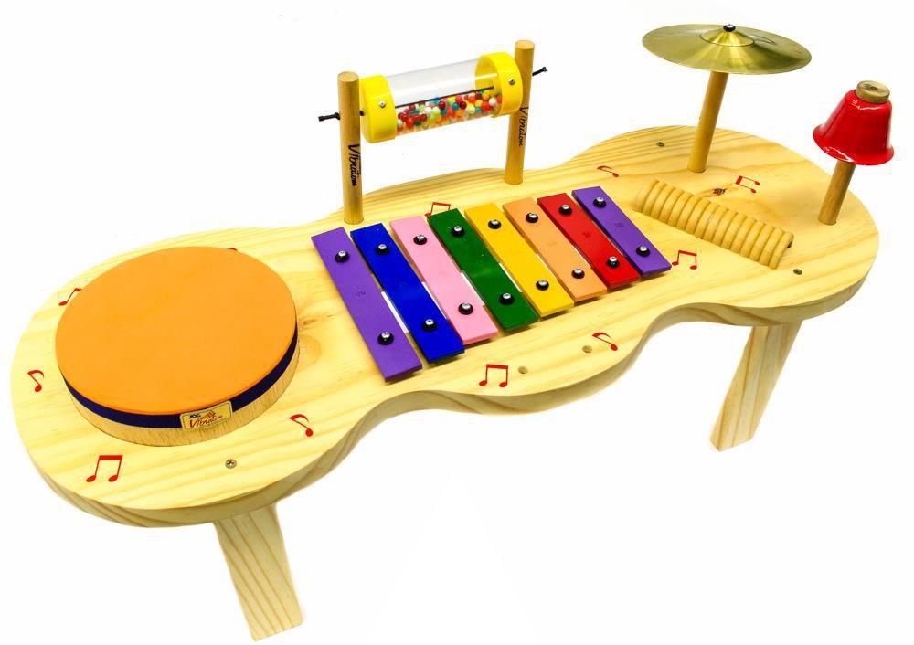 Pequena Percussão Baby de Madeira
