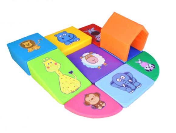 Playground Espumado Soft com Túnel Animais