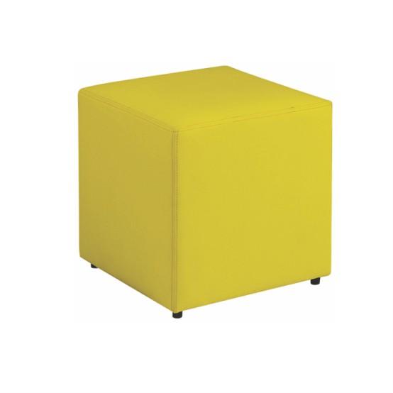Puff Quadrado Amarelo