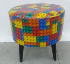 Puff Redondo Retrô Lego