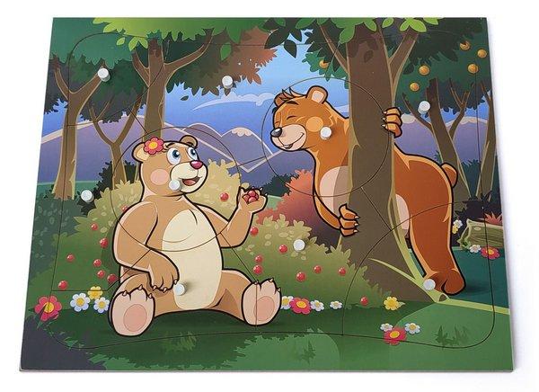 Quebra Cabeça com Pinos Ursos