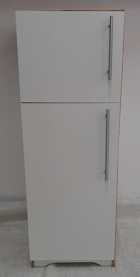 Refrigerador Branco de Madeira Fashion Toys