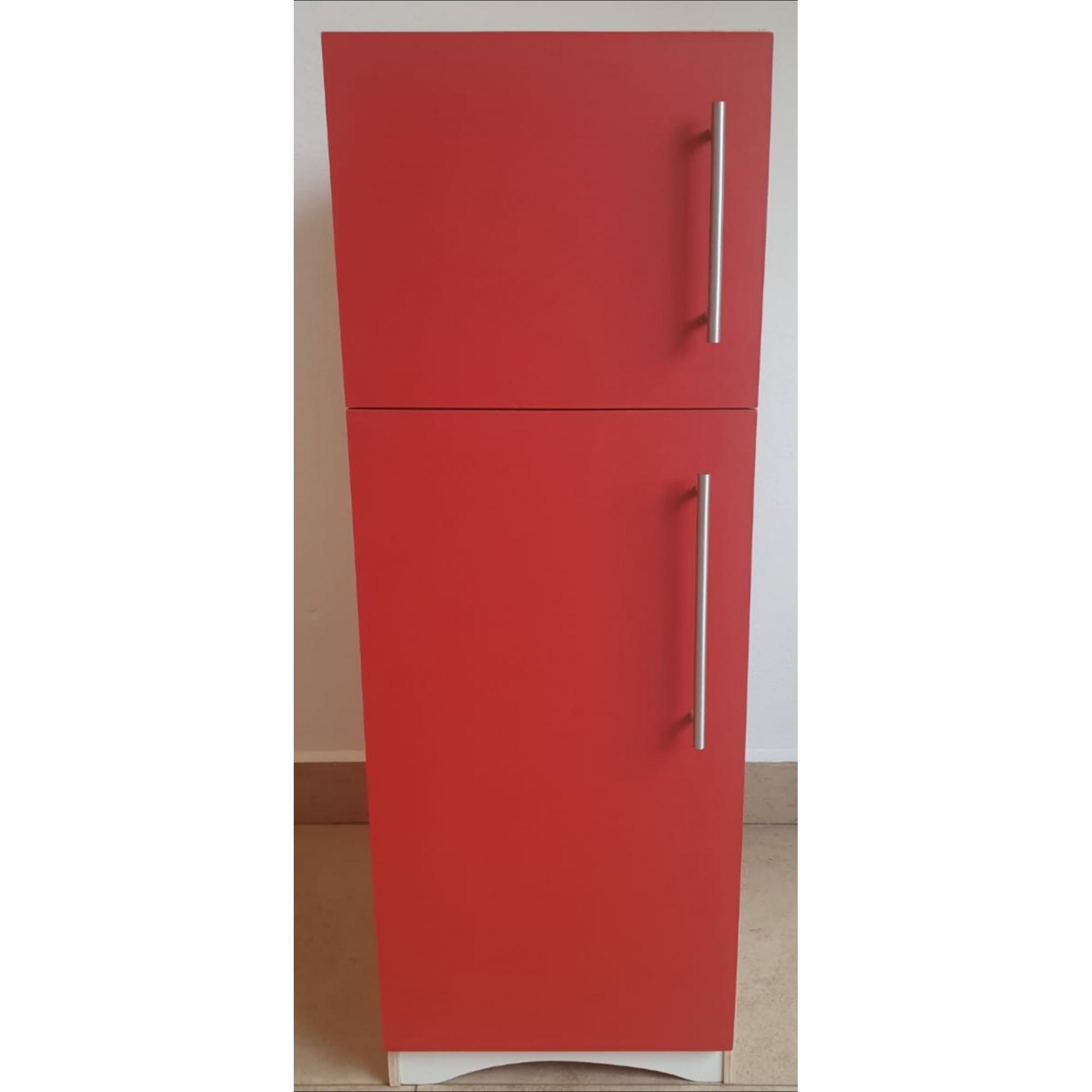 Refrigerador Vermelho de Madeira Fashion Toys