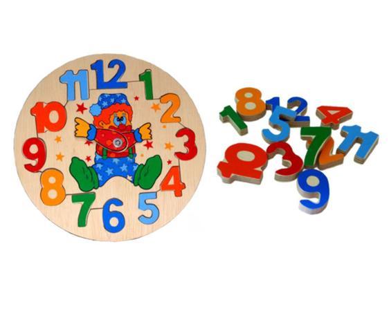 Relógio Pedagógico de Madeira