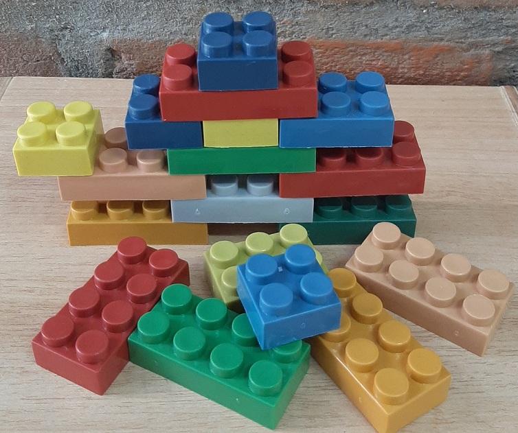 Sacolão Criativo 400 pçs- tipo Lego