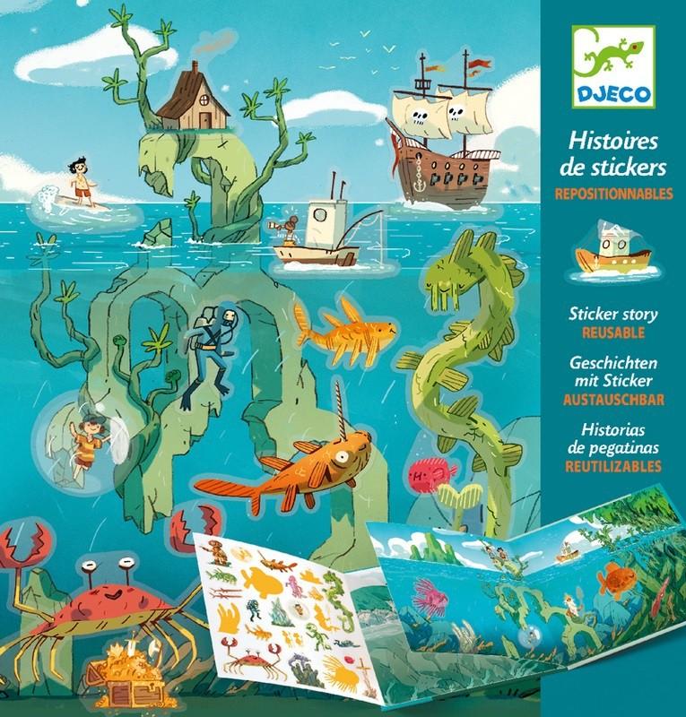 Adesivos Reposicionáveis - Aventuras no Mar