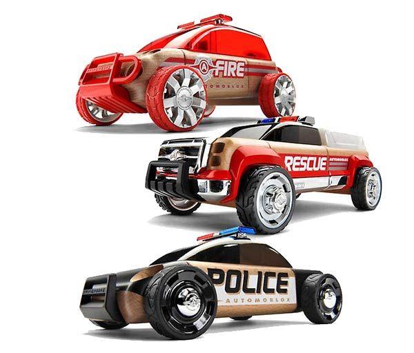 Automoblox Mini: S9 Policia, S9 Bombeiros e T9 Resgate