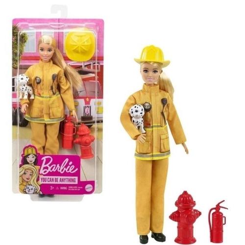 Barbie - Profissões Deluxe - Bombeira