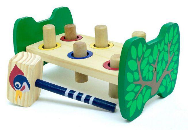 Bate Bancadinha - Brinquedo Educativo de Madeira