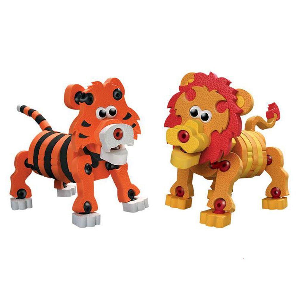Quebra cabeças 3D -  Tigre e Leão