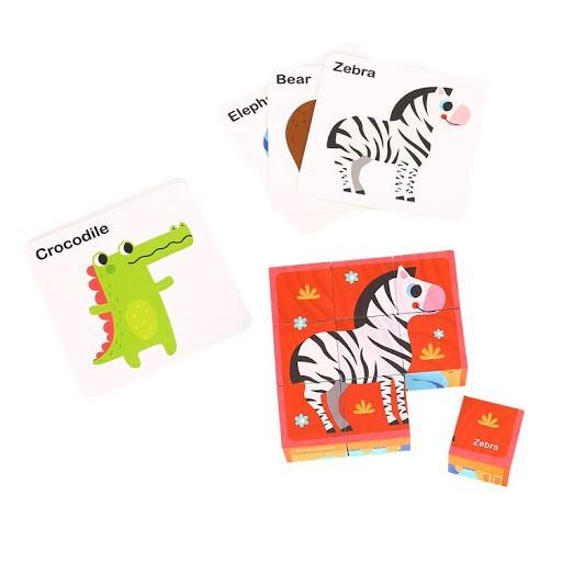 Blocos Animais de Encaixe (com cartões)