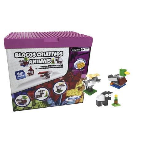 Blocos Criativos de Montar Animais 350 peças