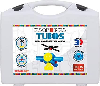 Blocos magnéticos para montar Magforma -  Tubos  21 peças