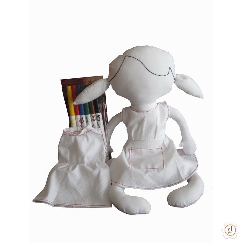 Boneco de Pintar Menina
