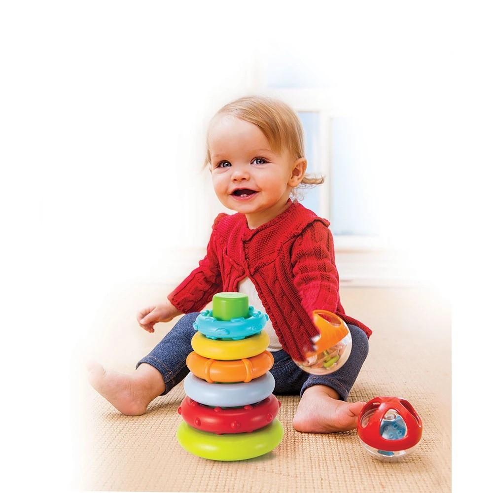 Brinquedo Interativo Argolas de Empilhar - Infantino
