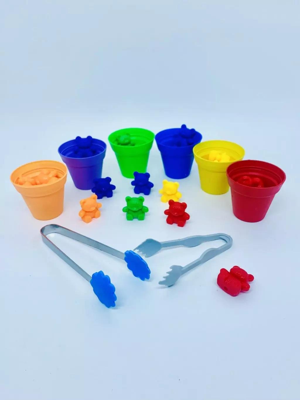 Busy Bag - Cachepots e Ursinhos Coloridos Learning Resources