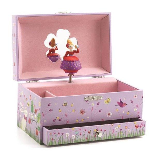 Caixa de Música Francesa Princesa com Pássaro- Djeco