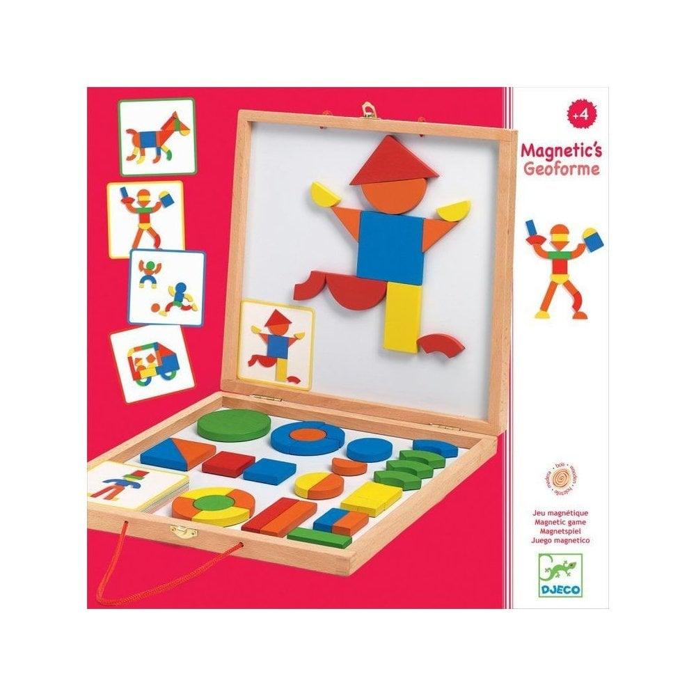 Caixa Magnética Formas - Djeco
