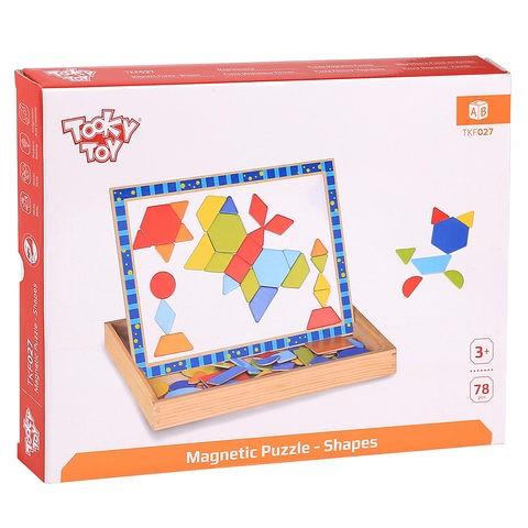 Caixa Peças Magnéticas e Lousa - Formas geométricas