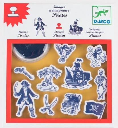 Carimbos para pintar Piratas - Djeco