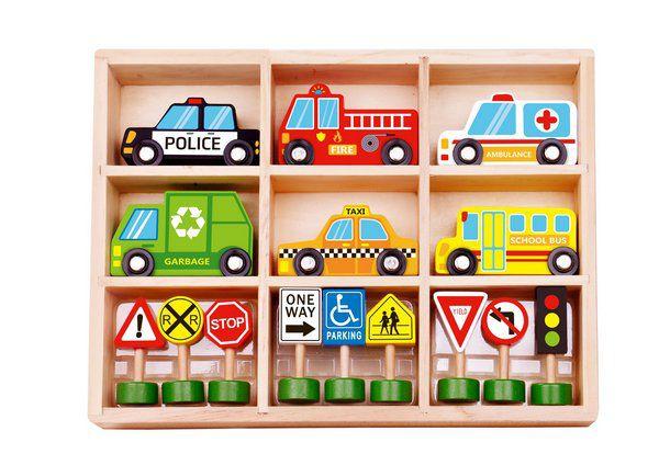 Kit de Carrinhos e Placas de Trânsito