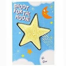 Cartão com Playfoam (Massa espuma)   Shoot for the Moon...you're a Star