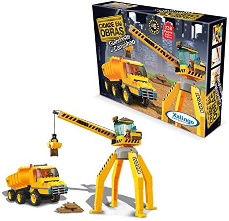 Cidade em Obras - Guindaste e Caminhão 238 peças