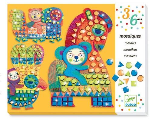 Colagem com Mosaico Animais Imagináveis
