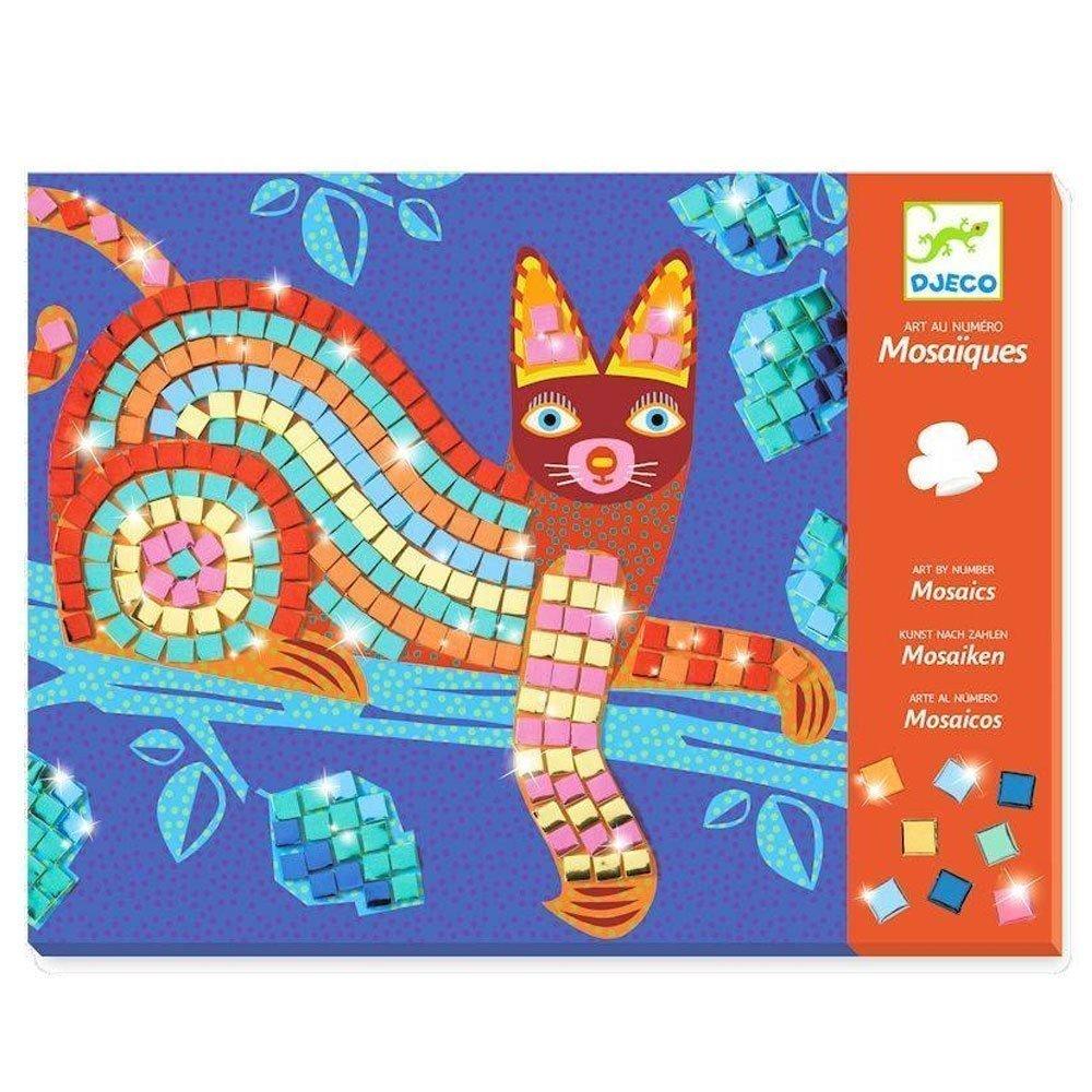 Colagem com Mosaico Gato e Tartaruga
