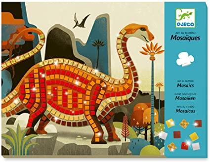 Colagem com Mosaicos - Dinossauros - Djeco