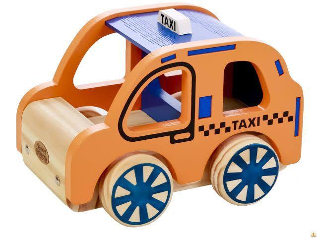 Coleção Carrinhos em madeira - Taxi