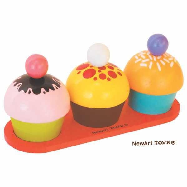 Coleção Comidinhas - Cupcakes com encaixe