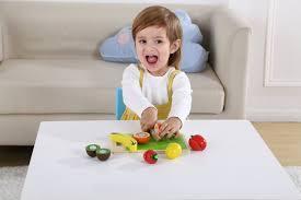 Conjunto Corte de Frutas em Madeira  - Tooky Toy