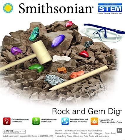 Conjunto de Escavação - Encontre Pedras e Gemas Preciosas - Smithsonian