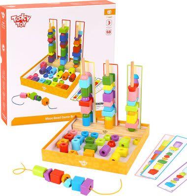 Conjunto de sequenciamento de peças com cartões de atividades -Tooky Toy