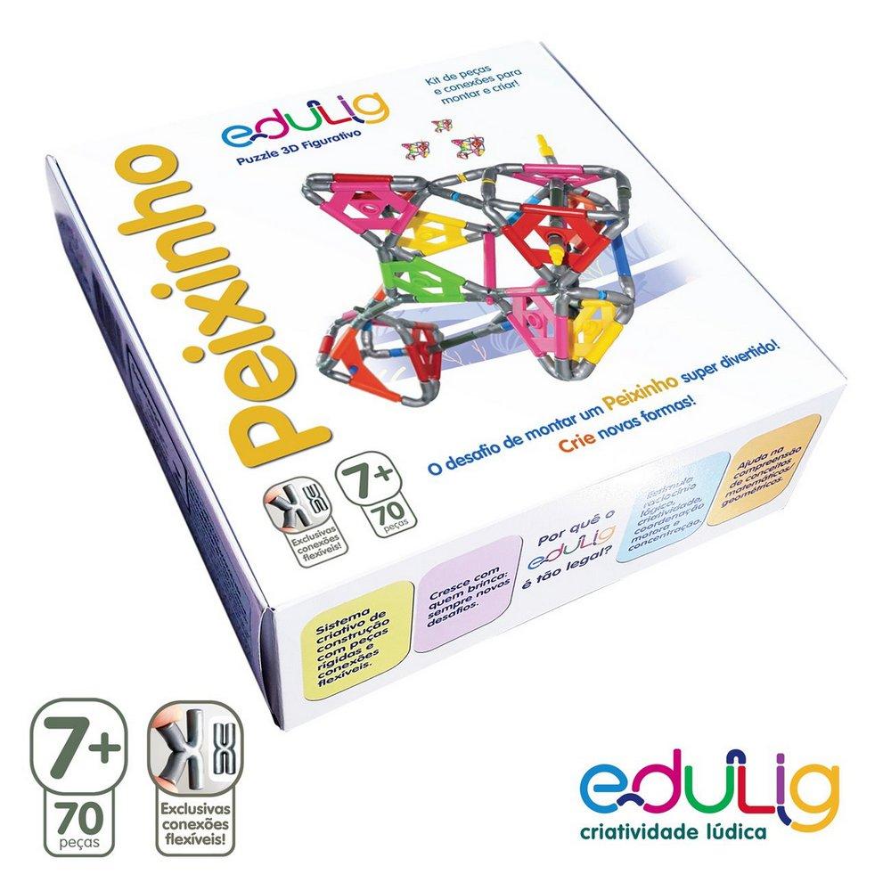 Desafio Edulig Criativo Puzzle 3D - Peixinho