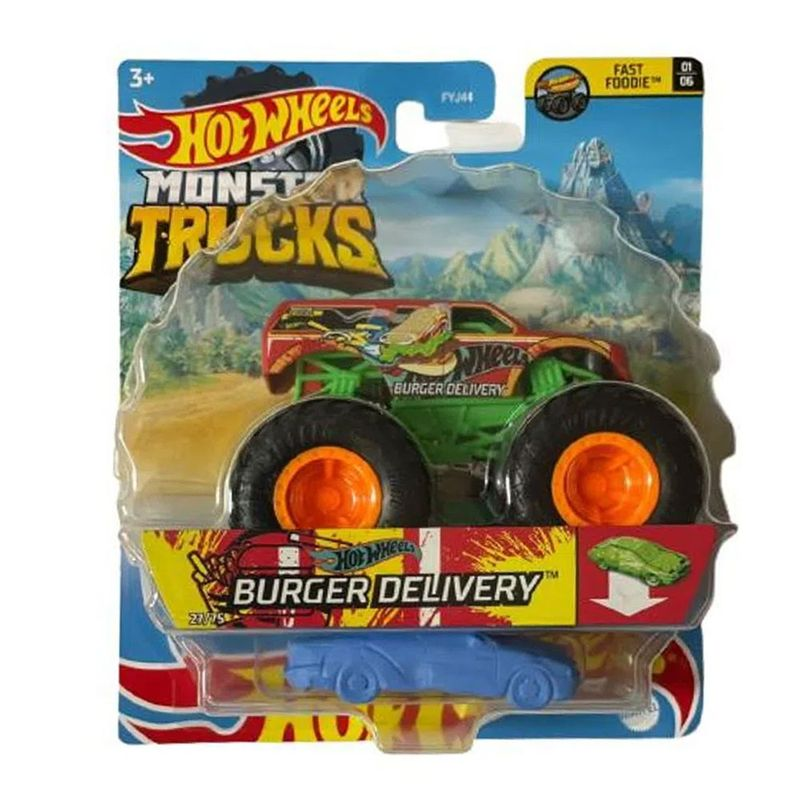Hot Wheels Monster Truck 1:64 Burger Delivery