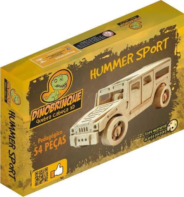 Quebra Cabeça 3D Hummer 54 Peças em MDF