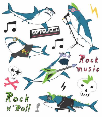 Tatuagem Temporária Tubarão Rock