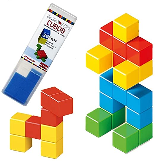 Cubos Magnéticos - 36 peças