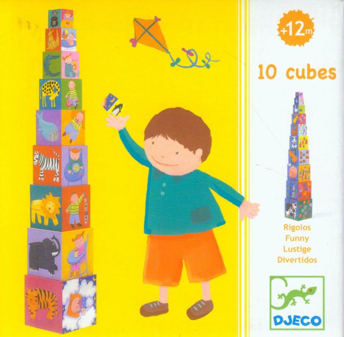 Cubos para empilhar Divertido - Djeco