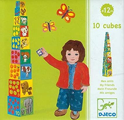 Cubos para empilhar Meus amigos - Djeco