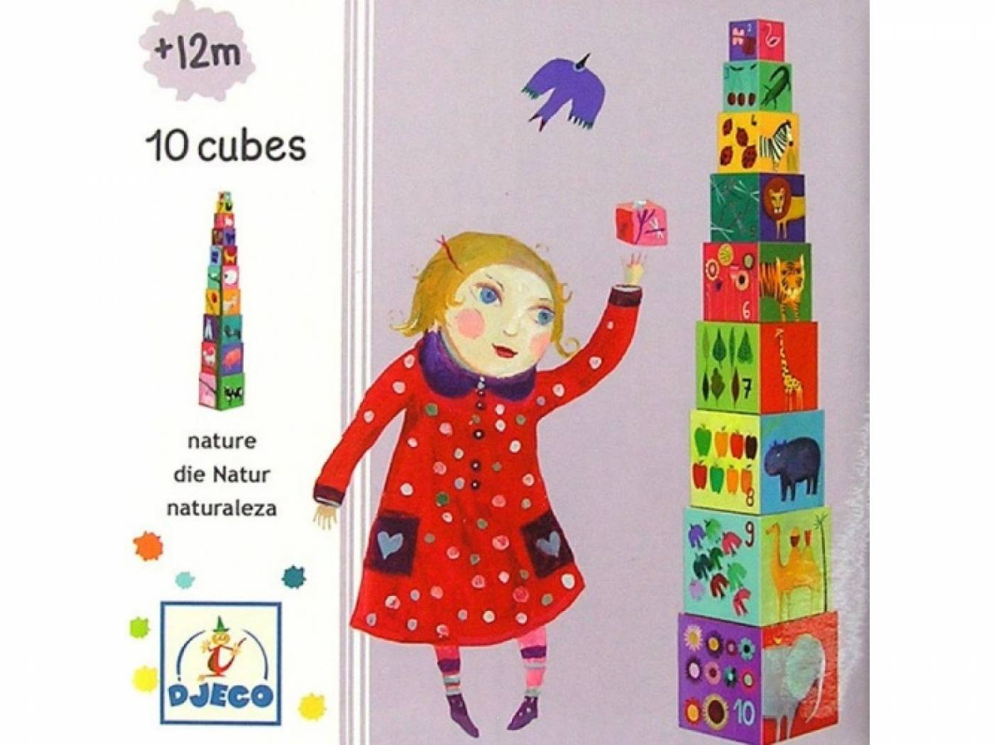 Cubos para empilhar Natureza - Djeco