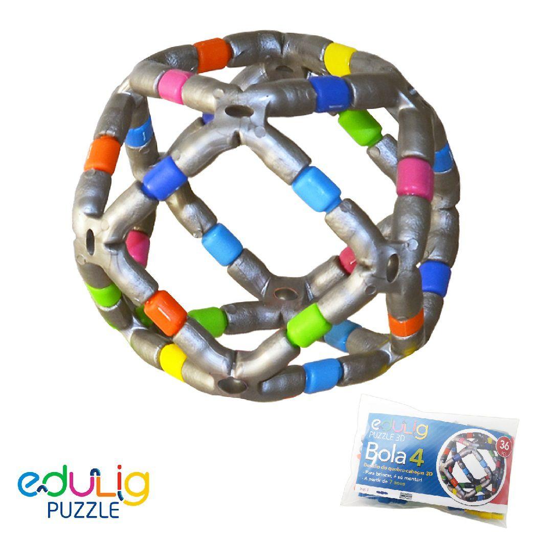 Desadio Edulig Criativo Puzzle 3D - Bola 4 Pequena