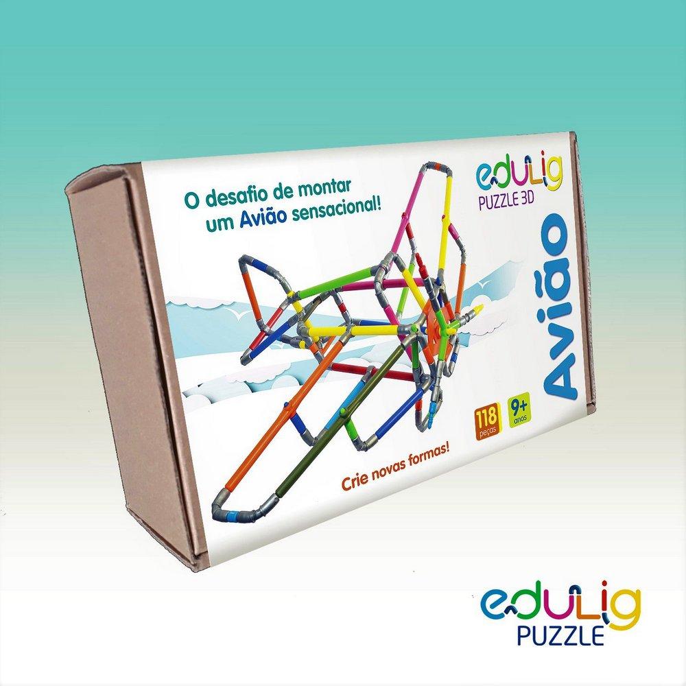 Desafio Edulig Criativo Puzzle 3D - Avião