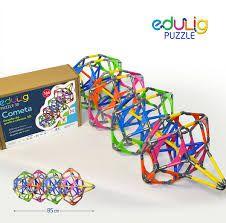Desafio Edulig Criativo Puzzle 3D - Cometa (166 peças e conexões)