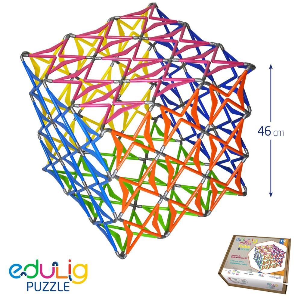Desafio Edulig Criativo Puzzle 3D - Cubo (50cm)