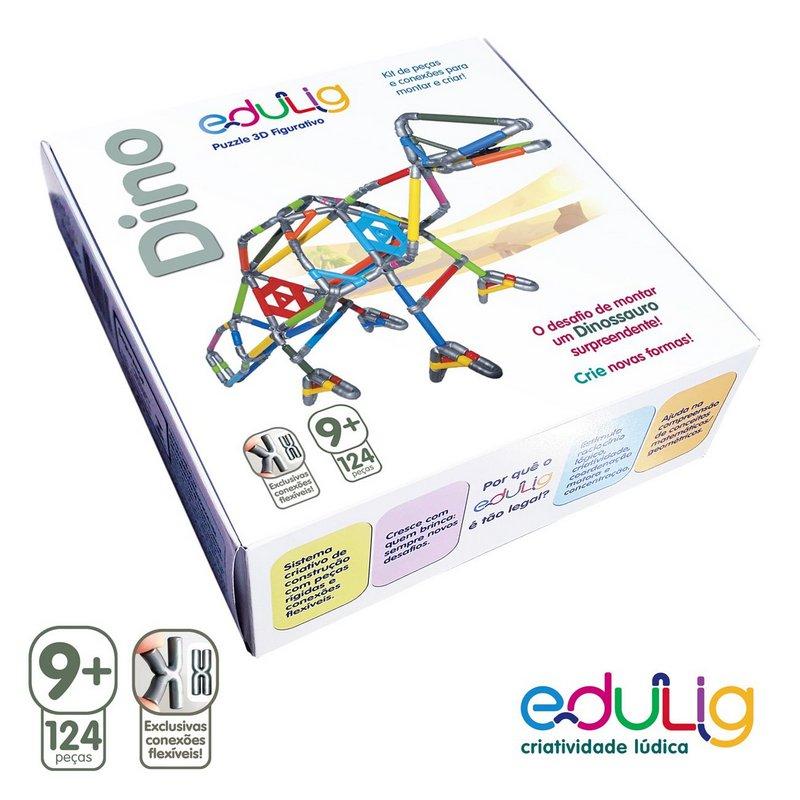 Desafio Edulig Criativo Puzzle 3D - Dino