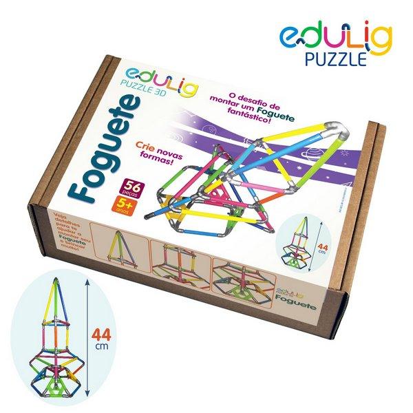 Desafio Edulig Criativo Puzzle 3D - Foguete