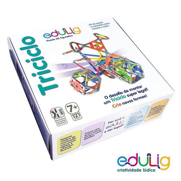 Desafio Edulig Criativo Puzzle 3D - Triciclo